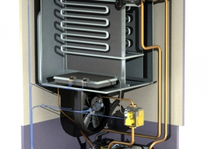 Cutaway of Combi Boiler for interactive YHELLN project