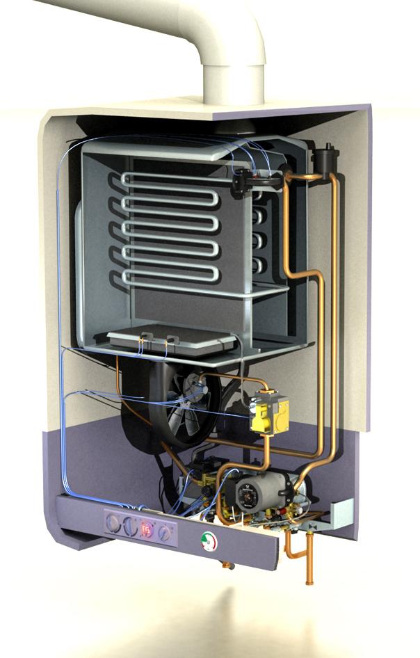 YHELLN Boiler Internals /  Cutaway