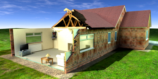 Yhelln project cutaway bungalow image